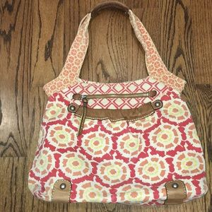 Fossil Canvas Satchel Tote